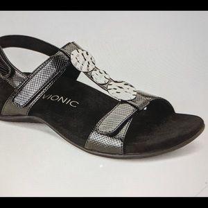 VIONIC Sandal Rest Farrah Lizard Black New 8